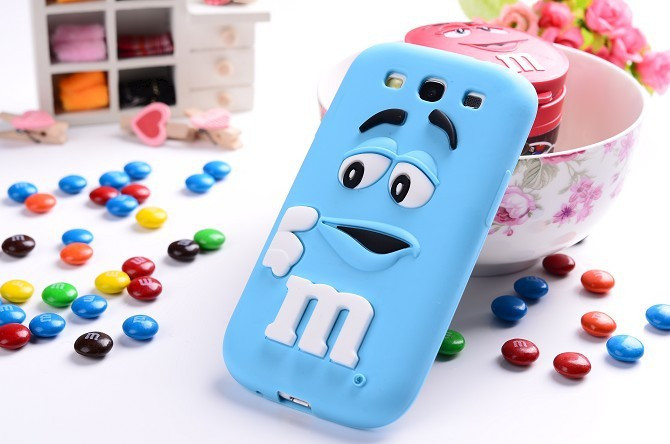 2016 J1 Cute Lovely 3D Cartoon Chocolate Beans Soft Silicone Back Case Cover For Samsung Galaxy J1 J100
