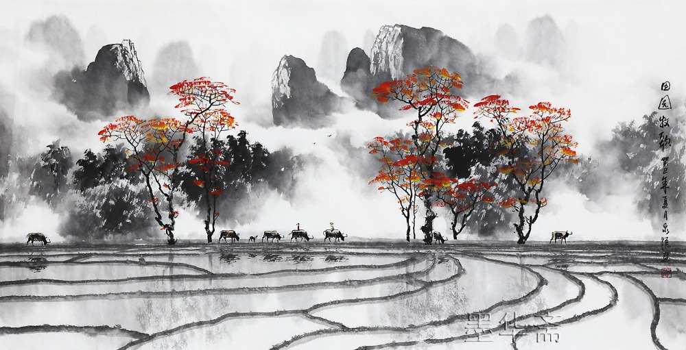 famous watercolor painting artist Zhang QuanZong ...
