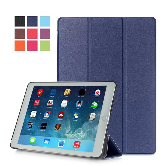 For Apple iPad Pro 9.7 Cases 2016 KST PU Leather Smart Cover for iPad Pro 9.7 Case Skin Shell Sleep Wake Up Function 9Colors