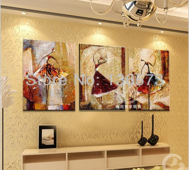 Hand painted pictures modern wall art pictures for living for 12x16 living room