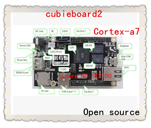 Cubieboard2 A20 Dual Core ARM INI PC Cortex-A7 1GB DDR3 with linux/android/More powerful pcduino/Raspberry pi/Smartfly team(China (Mainland))