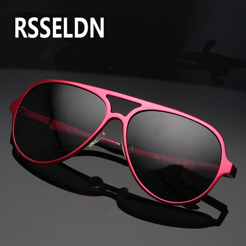 cheap sunglasses men pytf  RSSELDN Aluminum alloy Polarized Sunglasses Men Coating Mirror Sun glasses  Brand Designer Oculos Male Female Eyewear