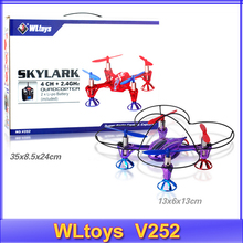 Free Shipping WLtoys latest upgraded version V252 # 2.4G 6 Axis 3D RC UFO Helicopter Quadcopter(RTF)(China (Mainland))