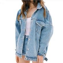 Buy 2017 New Autumn & Winter Women Denim Jacket Harajuku Bf Jean Jacket Loose Long Sleeve Female Coats Plus Size Oversized Jacket for $16.14 in AliExpress store