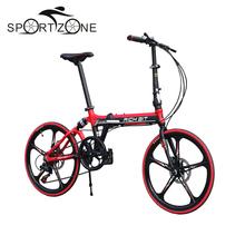 "High Quality Mountain Bike 7 Speed Suspension Mechanical Disc Brake Folding Bike 20inch Unisex Bicycle 20"" 5 Spokes TOP-023(China (Mainland))"