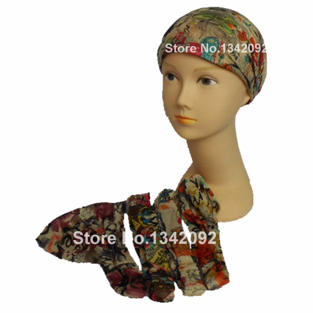 2015 New Fashion Charming Womens Floral Boho Elastic Turban Headwrap Wide 3 in 1 Headband Hair Band Head Wrap(China (Mainland))