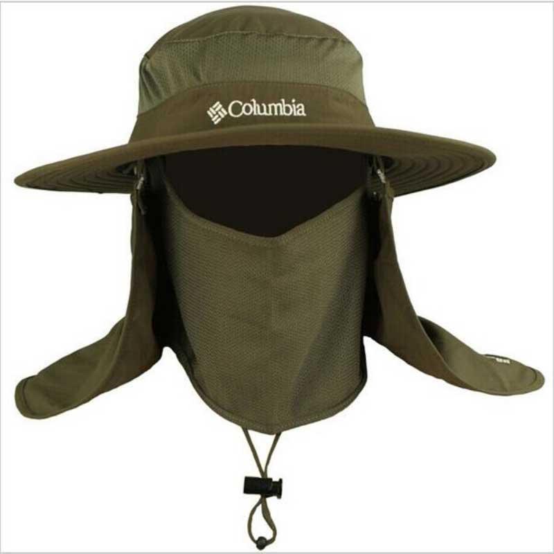 Fishing Caps Round Edges Cap Camping Hat Dark Gray Bucket Hat Mosquitos Hiking Fishing Cap Big Wide Brim Neck Flap Cap summer(China (Mainland))