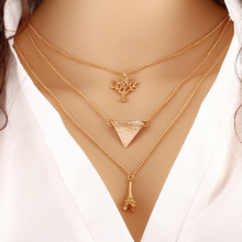 multi layer necklace gold arrow pearl cross eye beads charm bohemian necklace collar choker with pendant