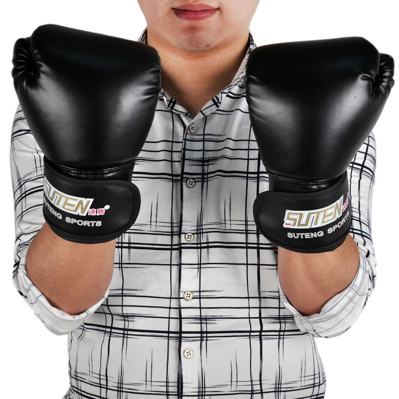 brand 8oz 10OZ PU leather sport training equipment Boxing Gloves Kick boxing MMA Training Fighting Sandbag Gloves Sanda mittens(China (Mainland))