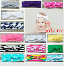 baby  headbandsTop Knot   Headband Children's Bow Head Wrap 1  pcs/lot(China (Mainland))