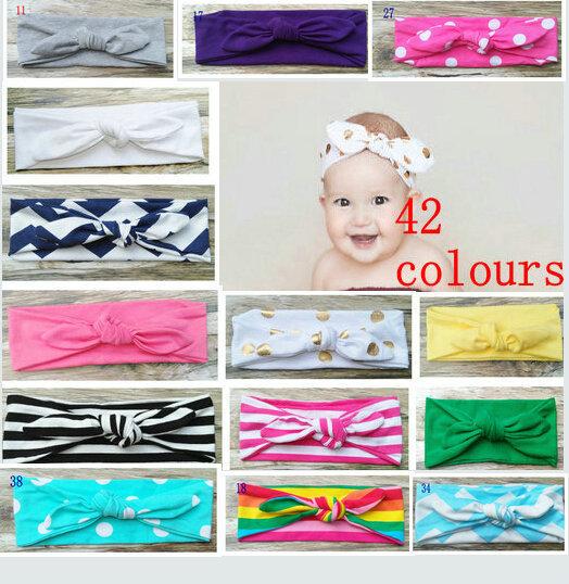baby headbandsTop Knot Headband Children's Bow Head Wrap 1 pcs/lot(China (Mainland))