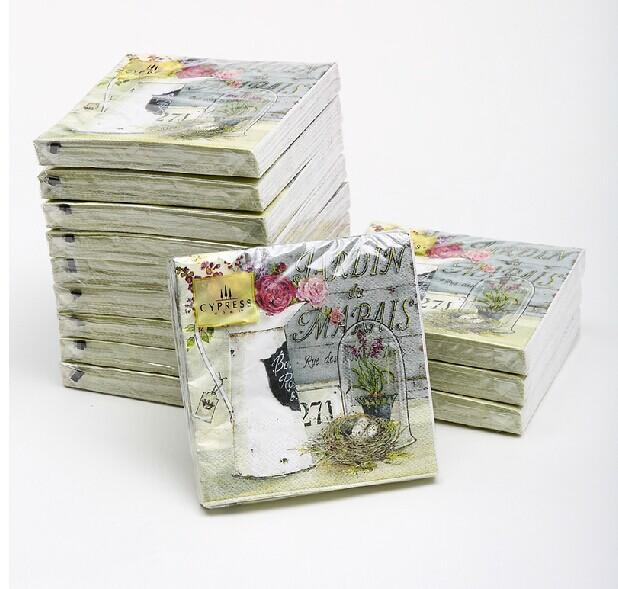Multicolor table napkin printed napkin paper personized - Serviette table tissu ...