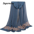 Women Scarf Shawl High quality Ladies Chiffon Autumn Winter Soft Wrap Shawl Dot from india foulard