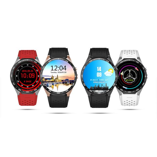Оригинал KW88 3 Г WI-FI GPS Smart Watch Android 5.1 OS MTK6580 ПРОЦЕССОР 1.39 дюймов Экран 2.0MP Камеры Smartwatch Для apple moto huawei