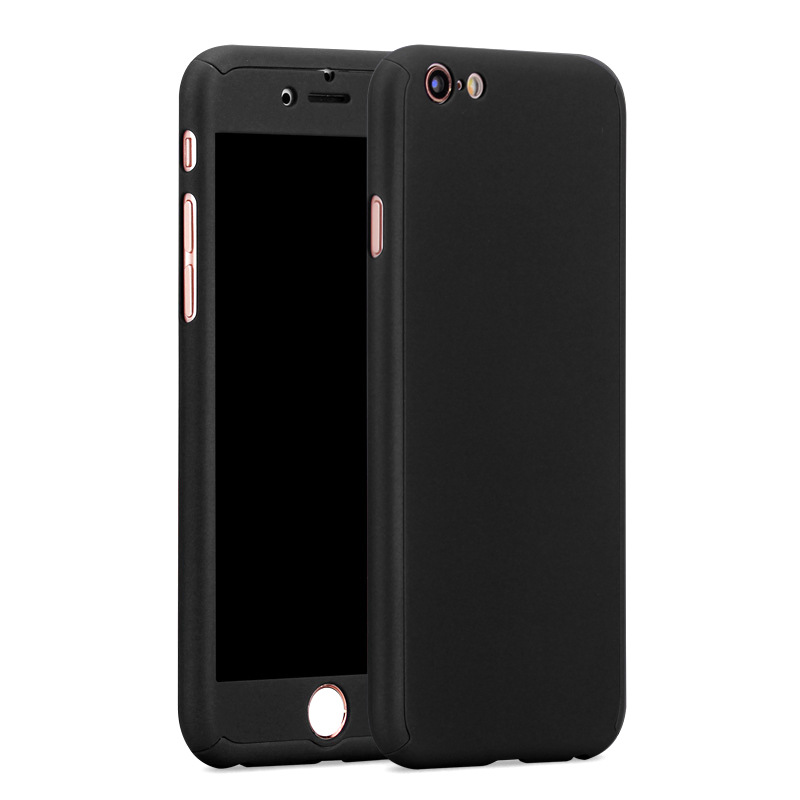 Separation Design Full Protection Case for iPhone 6 6S Plus Protective Case Anti abrasion Mobile phone Bag + Tempered Glass Film(China (Mainland))