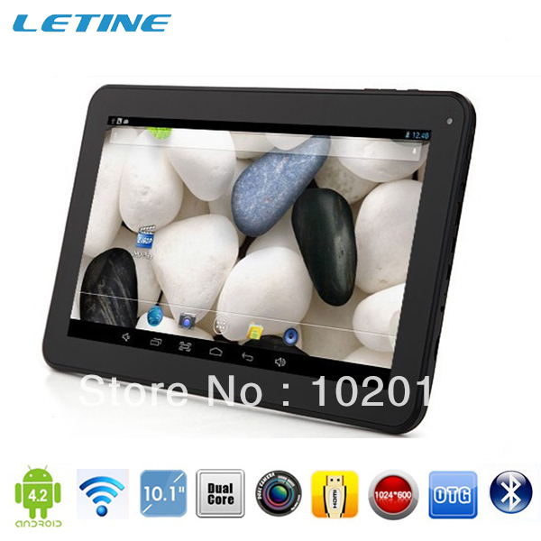 """50pcs/lot 10.1"""" Android 4.2 Allwinner A20 Cortex A8 CPU dual camera android 4.2 HDMI 1G/16GB bluetooth mid tablet pc"""