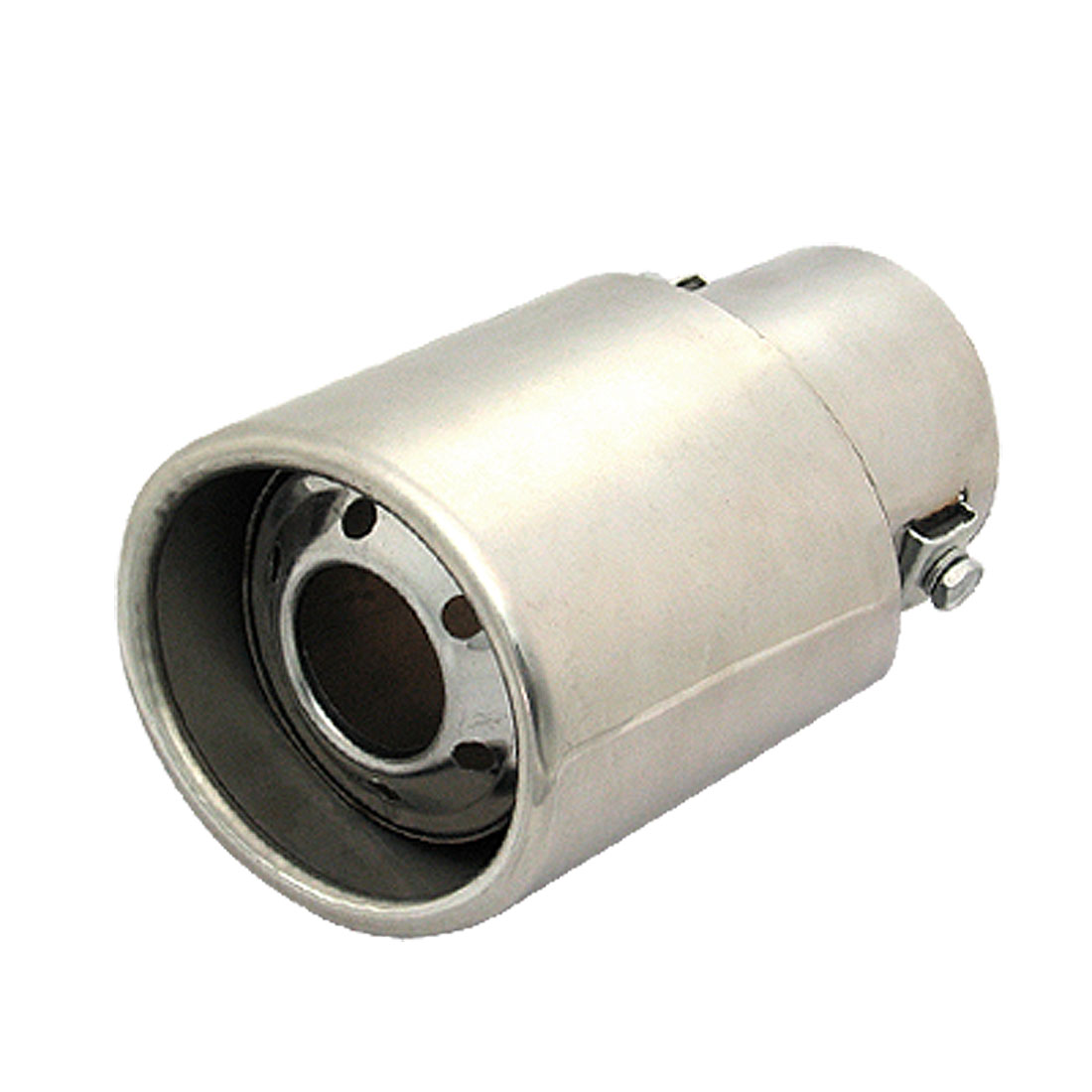 """Fit Diameter 61mm / 2.40 inches Oval Outlet Universal Car Auto Exhaust Pipe Muffler 5.8"""" X 3.4""""x 2.55"""" (LWT) Discount 50(China (Mainland))"""