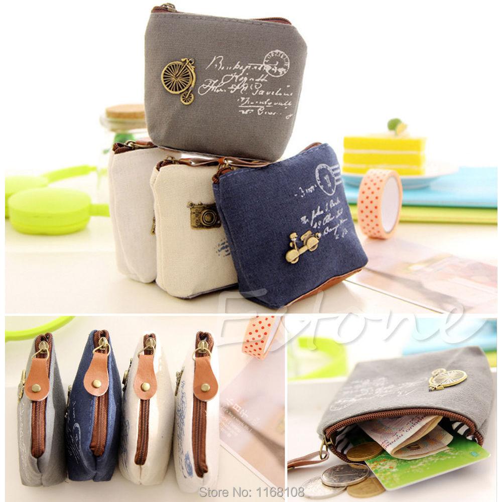 Coin Wallet Bag Purse Case Handbag Zipper Card Gift Retro Fashion Women(China (Mainland))