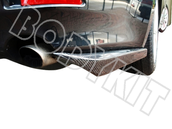 CARBON FIBER LEXUS 06-10 IS250 IS300 IS350 BODYKIT REAR LIP SPLITTERS FLIPPERS APRONS CANARDS(China (Mainland))