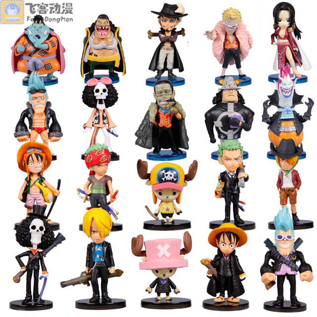 Hand-done strawhat doll toy model luffy full set