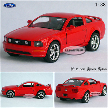 1:38 kinsmart FORD Mustang gt red alloy car models boy children toy model free air mail