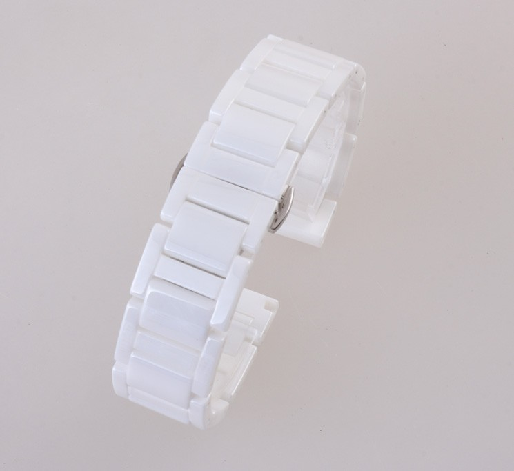 New Arrival Replacement Black Ceramic Watchbands men women watches accessories strap bracelet band 14mm 20mm ceramic watch band