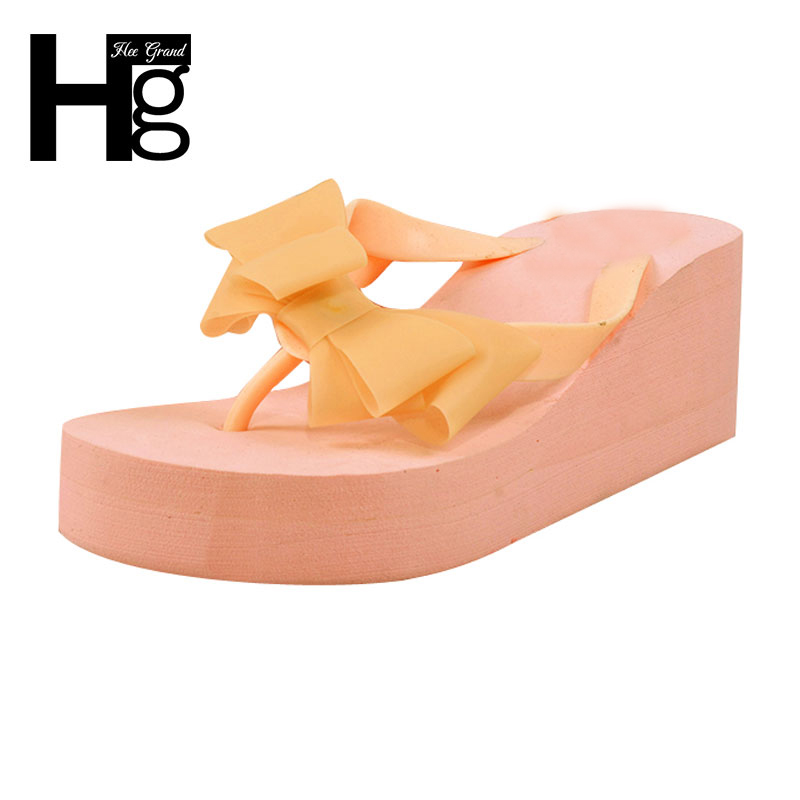 HEE GRAND 2016 Big Butterfly-knot Women Flip Flops Sandals Ladies Beach Sandal Jelly Plastic Shoes XWT044(China (Mainland))