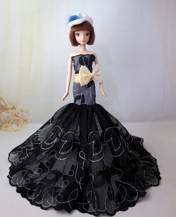 Prime quality Handmade Items For Ladies fishtail skirt Slim Night Go well with Wedding ceremony Gown Garments For Barbie 1:6 Doll BBI00296