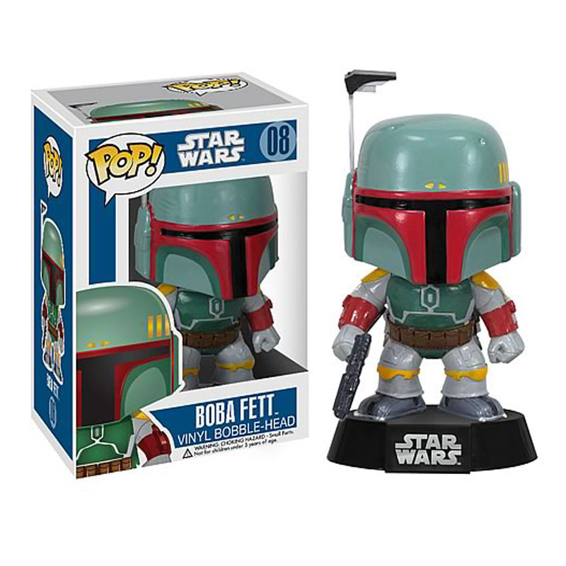 10cm Funko Pop Star Wars Kylo Ren Boba Fett Darth Vader BB-8 figure toy 2016 New The force awakens bb8 droid Robot collectables(China (Mainland))