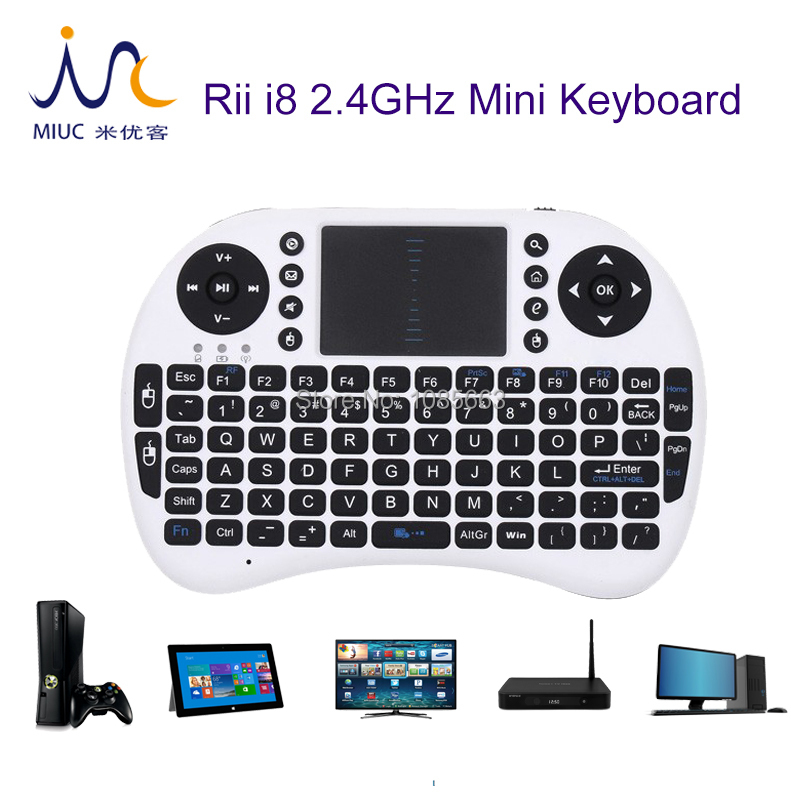 Hot Sale 2.4G Rii Mini i8 Wireless Keyboard Touchpad for Tablet PC iPad Mini Google Andriod Smart TV Box Xbox360 PS3 HTPC/IPTV(China (Mainland))