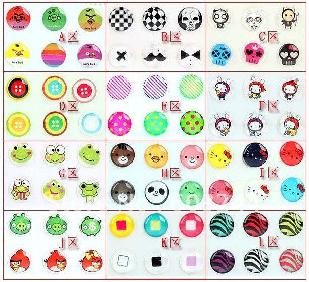 Freeship 300pcs 50 Set 3D Home Button Sticker for Apple iphone 4 4S 3gs ipad itouch Touch Retail Package
