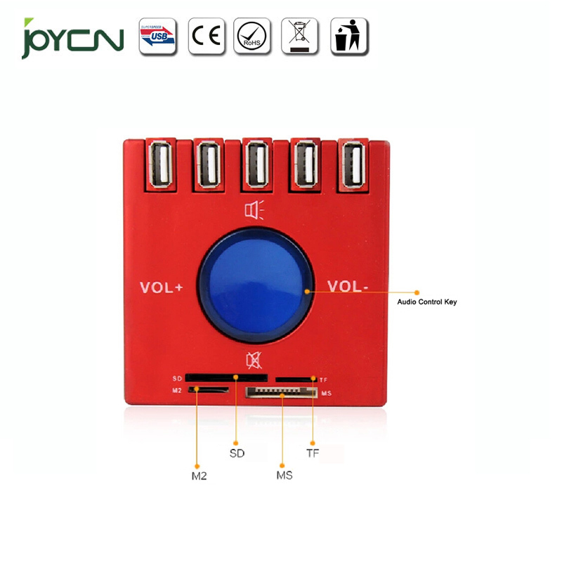 USB Sound HUB COMBO 3 1 5ports + Speaker all-in-1 Card Reader multi-function satisfy different using - JOYON Factory store