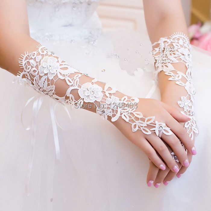 2014 new design lace wedding gloves dresses cheap Bridal Gloves - Dream blue store