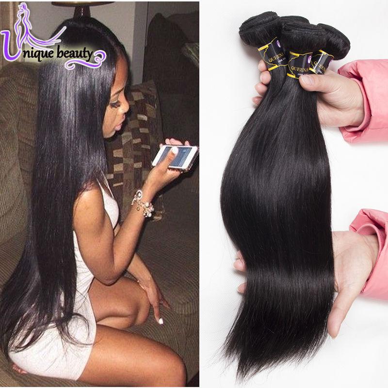 Brazilian Virgin Hair 4 Bundles Straight Rosa Hair Products Brazilian Virgin Hair Straight 6A Unprocessed Straight Virgin Hair