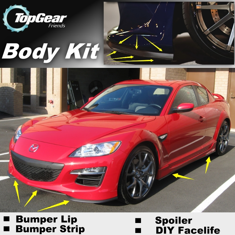Mazda RX-8 RX8 RX 8 2003~2012 Bumper Lip / Front Spoiler Deflector Car Tuning Body Kit Strip Skirt - NOVOVISU Store store