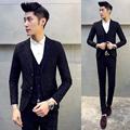 3pcs Men Suits 2017 Brand New Spring Wedding Suits for Men Plus Size Business Formal Wear