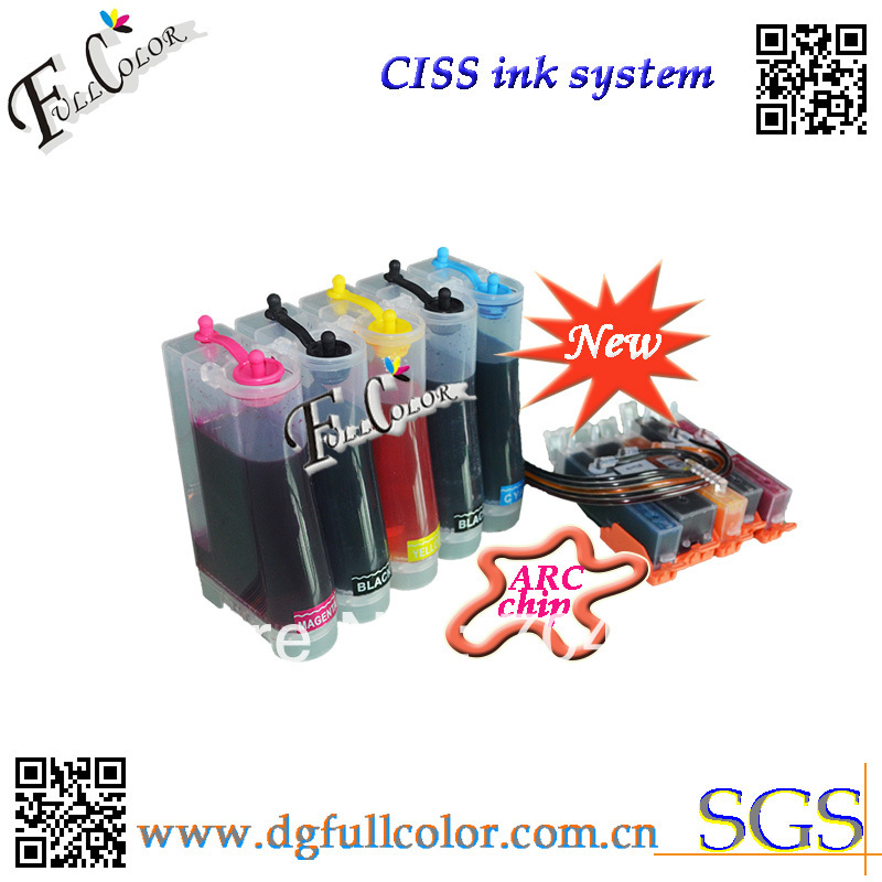 Фотография Free shipping  new and hot  Compatible CISS 550 551 ink system with ink and ARC chip For PIXMA MG5450 inkjet printer