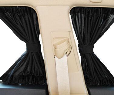 "2 x Update 70S(28""x15"") Aluminum Alloy Elastic Auto Car Side Window Sunshade Curtains - Black(China (Mainland))"