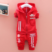 2015 new fashion brand Spring Autumn boys / girls Sport suit set children hoodies + pants clothes sets kids 2 pcs clothing set(China (Mainland))