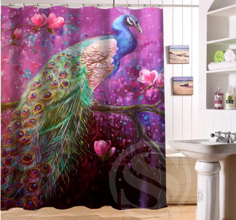 online get cheap peacock bathroom decor