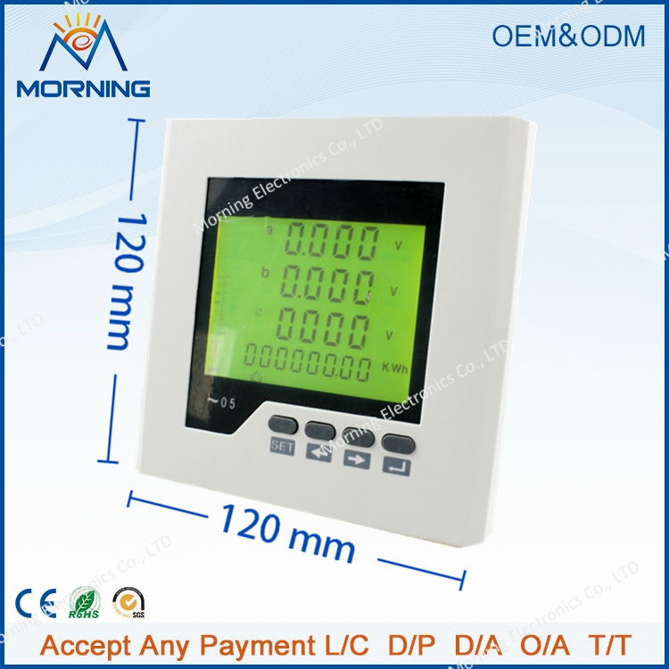 3FHD2Y panel size 120*120 low price lcd digital three-phase energy meter, with multi-rate and harmonic measurement<br><br>Aliexpress