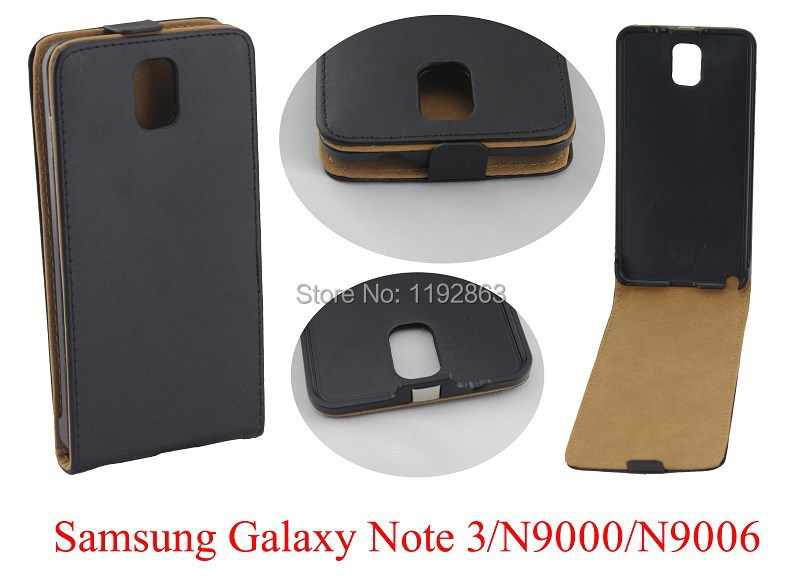 2014 New Korean Black Luxury PU Leather phone Case Cover For SAMSUNG GALAXY NOTE 3 N9000 N9006(China (Mainland))