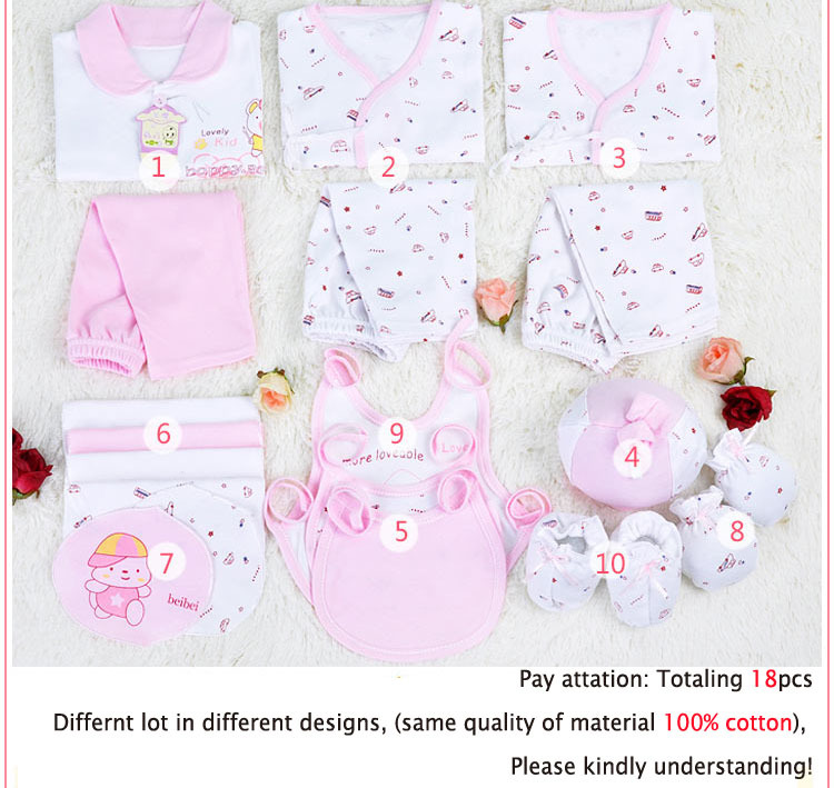 Free shipping 18pcs newborn baby gift set,Infant Clothing ...