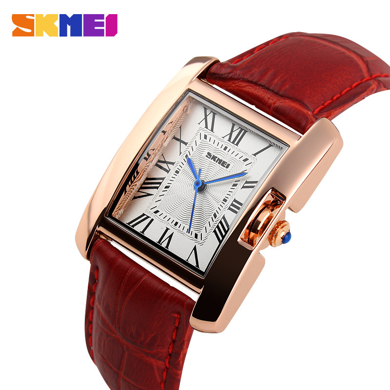 2015 New Hot Sale High Quality Fashion Gift Box Rectangle Upscale Business Watches Women Leather Quartz wristwatch Free Shipping<br><br>Aliexpress