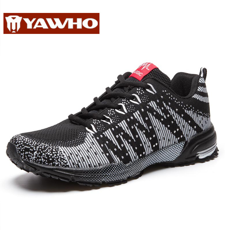 2016 New Men Lightweight Breathable Running Shoes Outdoor Sports Shoes Casual Sneakers Walking Mesh Shock-absorbing Shoes(China (Mainland))