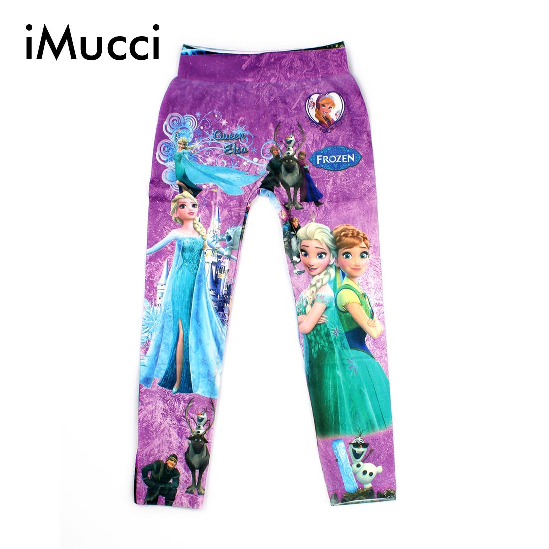 2016 Digital Printing Kids Pants Fashion Baby Cartoon Anna Elsa Pattern Leggings For Boy Girl  4-8 Age Children Trousers<br><br>Aliexpress