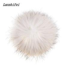 Lanshifei Brand 18cm Fox Fur Pompom Fur Pom Poms Ball For Hats Caps Soft Fur Pompon Ball For Shoes Hats Bags Women Accessory(China (Mainland))