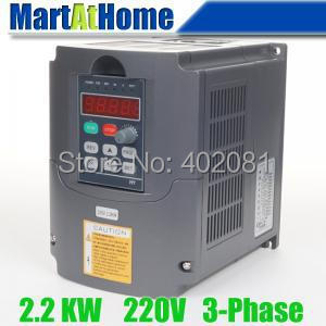 Free shipping New 2.2kw 3HP 220V 10A Usual VFD Inverter Variable Frequency Drive Inverter for Spindle Motor #SM663 @CF(China (Mainland))