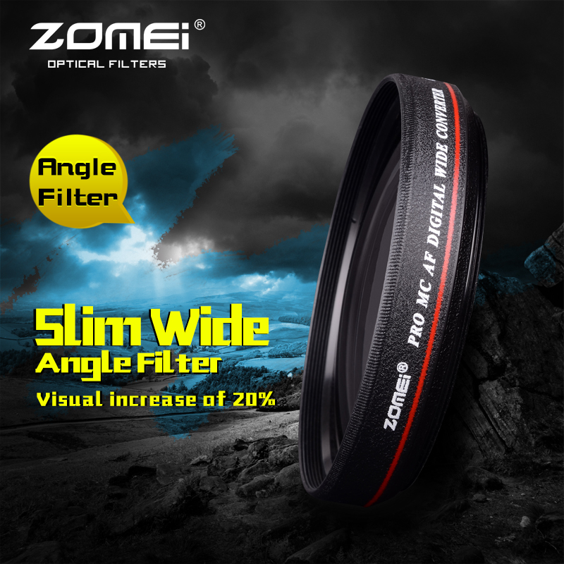 ZOMEI Ultra Slim 67mm 0.45x Wide Angle Lens For Canon Nikon DSLR Camera Filter(China (Mainland))