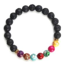Buy 2016 New Natural Black Lava Stone Bracelets 7 Reiki Chakra Healing Balance Beads Bracelet Men Women Stretch Yoga Jewelry for $3.58 in AliExpress store